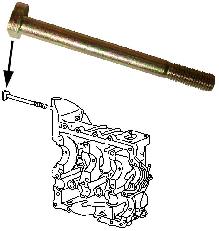 Šroub startéru - Typ 1/3 motory (» 2003)