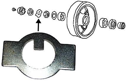 Podložka matice bubnu/přední L/P - Typ 1/2/14/Porsche PreA/A (» 1967)