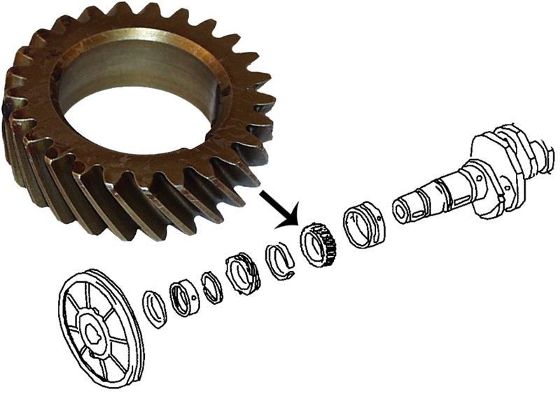 Kolo vačky/rozvodové - Typ 1/3/CT/WBX motory (1960 » 03)