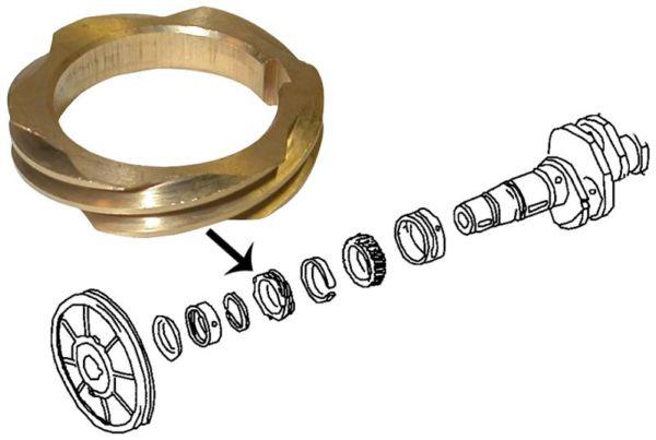 Kolo náhonu rozdělovače/kliková hřídel - Typ 1/3/WBX motory (1960 » 03)