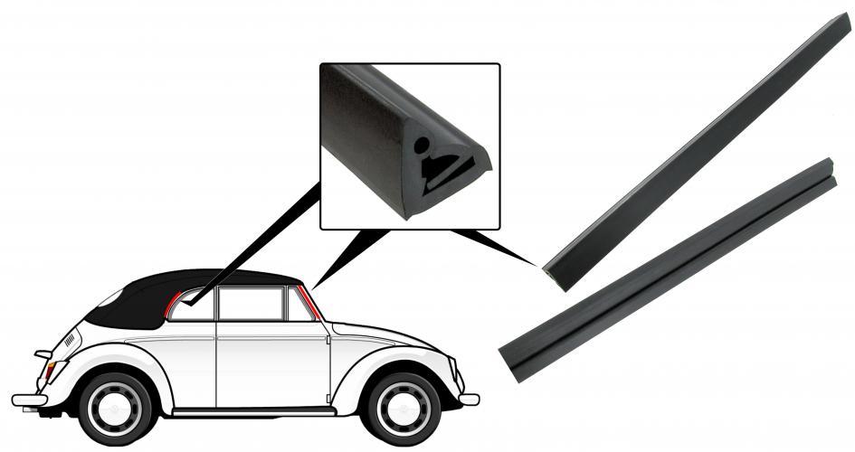 Těsnění sloupku dveří/okno ventilace+zadní rám - T.1 Cabrio (1964 »)