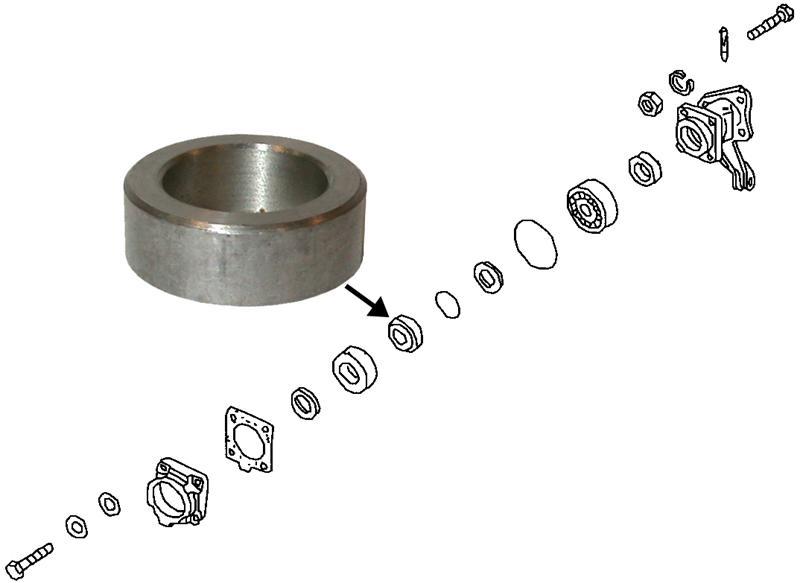 Kroužek poloosy vymezovací/zadní L/P - Typ 1/2/3/14/181 (» 2003)