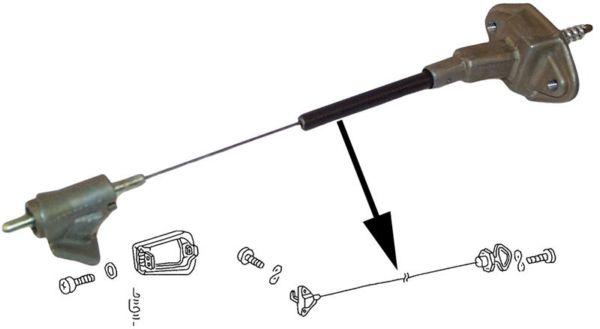 Mechanismus víka nádrže paliva - Typ 1 (1971 » 72)