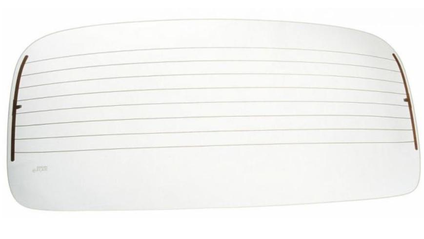 Sklo zadní vyhřívané/čiré - Typ 1 (1964 » 71+1977 »)