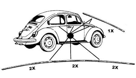 Lišty karosérie Alu/kit - Typ 1 (1966 » 67)