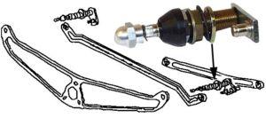 Hřídelka mechanismu stěrače/P - Typ 1 (1969 » 78)