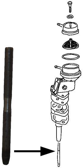 Tyčka čerpadla paliva/100mm - Typ 1/3/CT/CZ/WBX motory (1973 »)