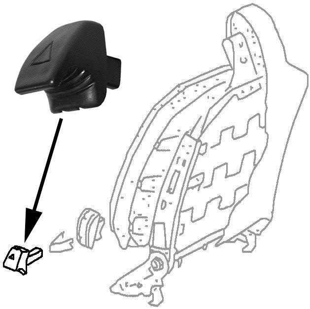 Páčka odklápění sedadla - Typ 1/3/25/Golf/Jetta/Scirocco (1971 »)