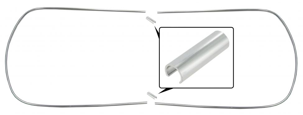 Lišty Alu těsnění oken/kit - Typ 1 (1964 » 71)