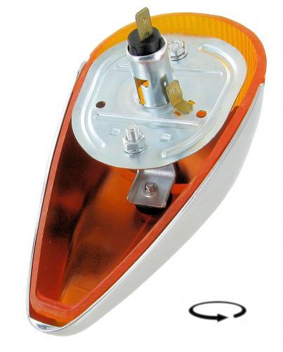 Světla směrová přední OE oranž/chrom L/P - Typ 1/181 (1963 » 74)