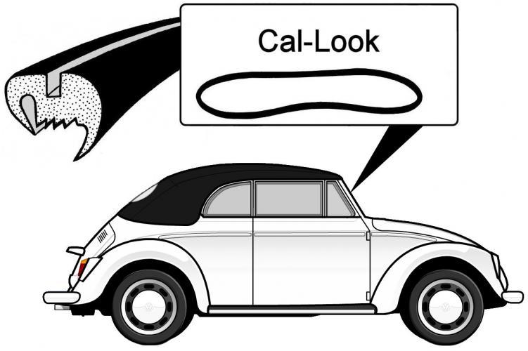 Těsnění skla Cal Look/přední - T.1 Cabrio (1964 » 72)