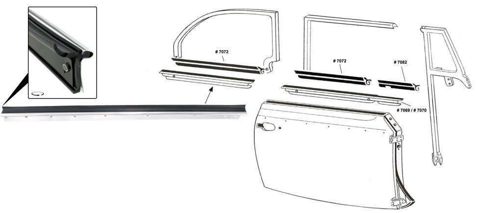Sametka skla vnější/zadní P - T.1 Cabrio (1964 » 80)