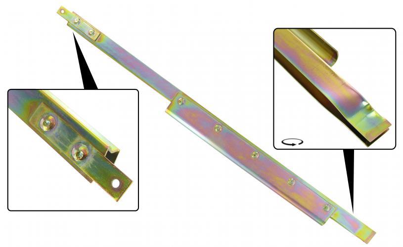 Lišta stahování skla/zadní L - T.1 Cabrio (1964 »)