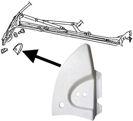 Kryt mechanismu střechy bílý/vnitřní L - T.1 Cabrio (1967 » 80)