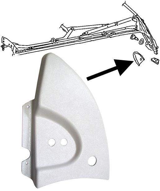 Kryt mechanismu střechy bílý/vnitřní P - T.1 Cabrio (1967 » 80)