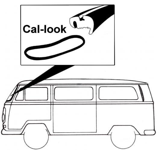 Těsnění skla Cal-look/přední - Typ 2 (1967 » 79)