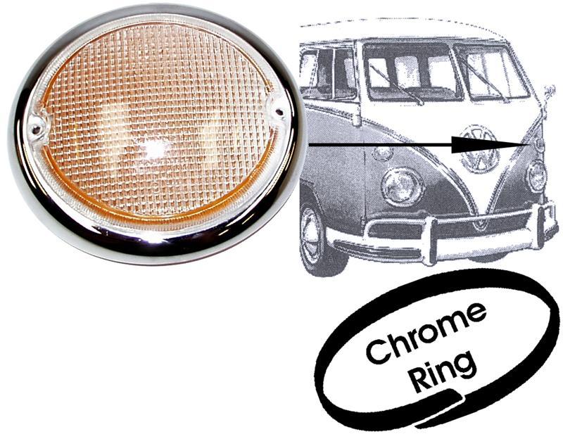 Sklo směrového světla/přední L - Typ 2 (1963 » 67)