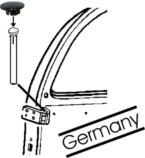Záslepky černé/čepy pantů dveří - Typ 1/3 (1961 » 03)