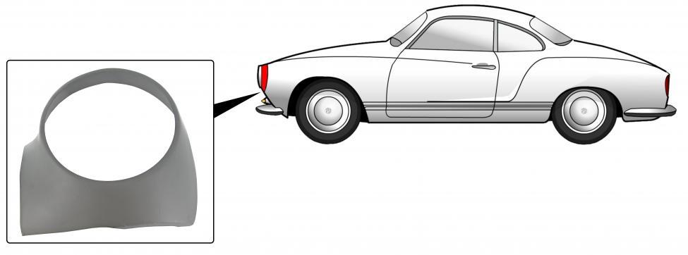 Sekce předního světlometu/L - Typ 14 (» 1974)