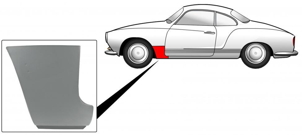 Blatník přední/spodní část zadní L - Typ 14 (1960 » 74)