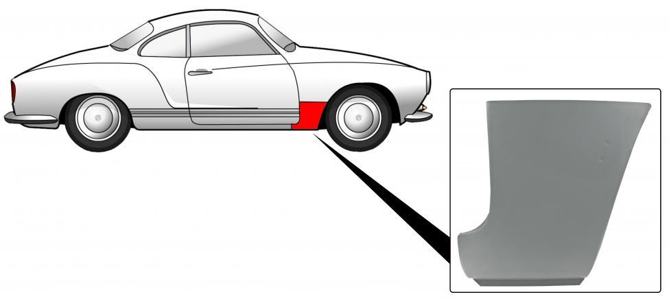 Blatník přední/spodní část zadní P - Typ 14 (1960 » 74)