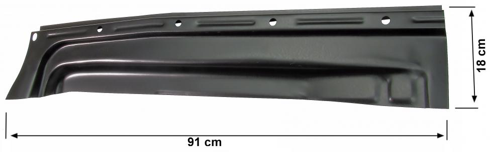 Podlaha zadní 1/4 panelu L - Typ 1 (» 1972)