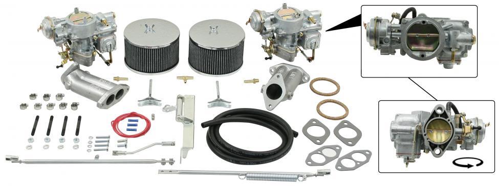 Karburátory 40-44EIS/kit - Typ 1 motor (1.3-1.6)