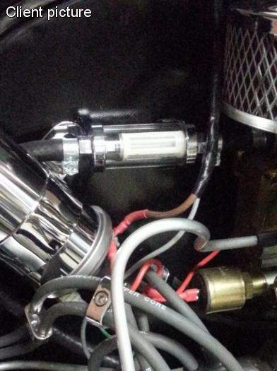 Filtr paliva chrom/6.5-8mm - Typ (univerzál)