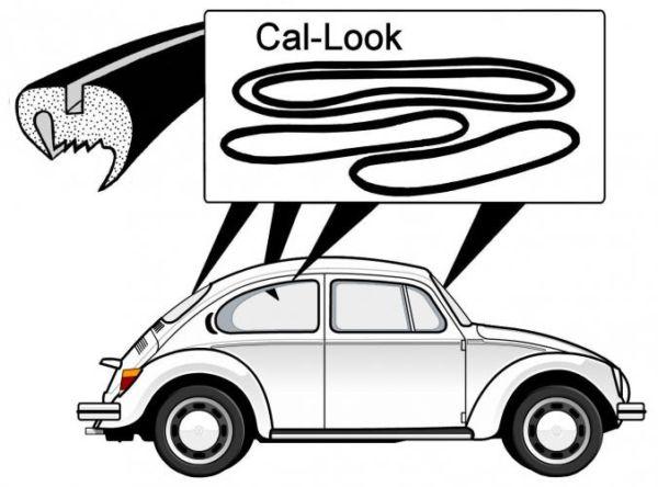Těsnění skel plné Cal look/kit - T.1 1303 (1972 » 79)
