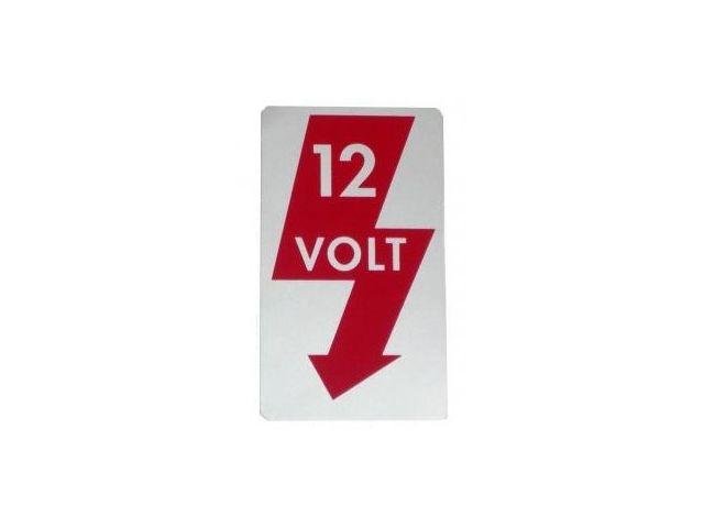 Samolepka/12 Volt - Typ 1/2/3/14/25/181 (1967 »)