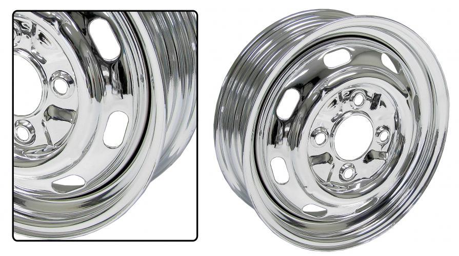 Kolo ocelové/chrom 4x130mm ET +25 (5.5x15)