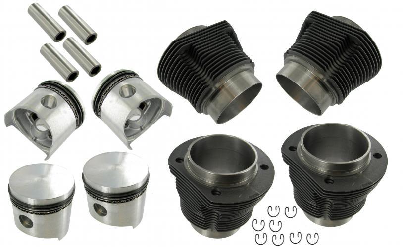 Písty/válce lité/kit - Typ 1/3/CT/CZ motory (69x85.5mm)