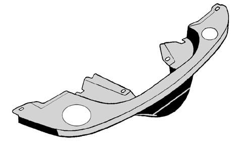 Krycí plech s otvory/zadní chrom - Typ 1 motor (1.3/1.5/1.6)