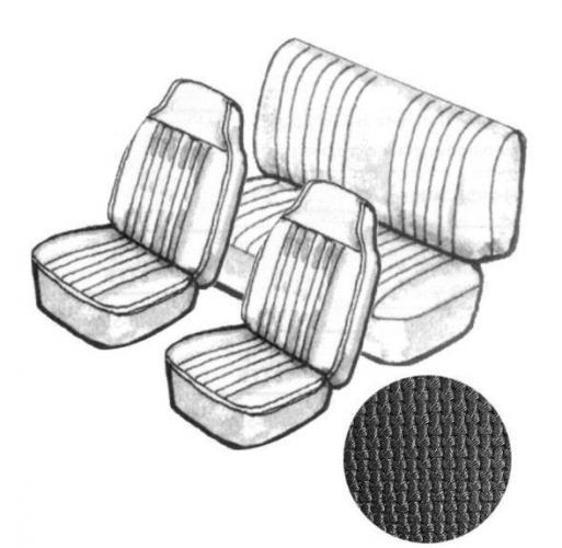 Potahy sedadel TMI/černý vinyl/kit - Typ 1 (1969 » 72)