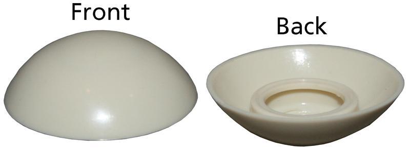 Krytka šroubu nárazníku/bílá - Typ 2/25/LT (1972 » 92)