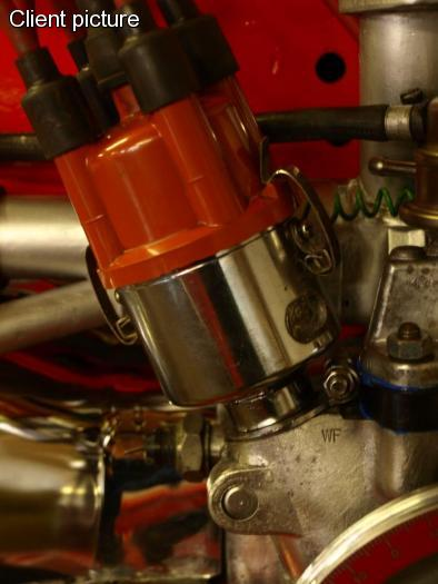 Rozdělovač 009/chrom - Typ 1/2/3/14/Porsche 356/914/4 (1950 »)