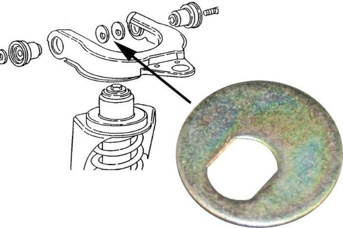 Podložka/odklon kol L/P - Typ 25 (1979 » 92)