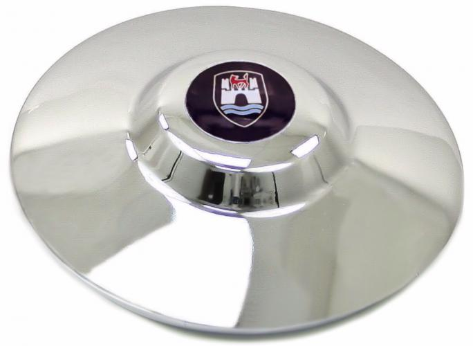 Poklice kola chrom/logo Wolfsburg - Typ 1/2/14/181 (» 1970)