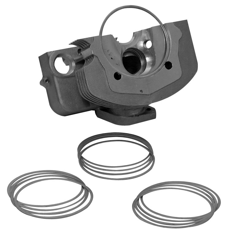 Podložky hlavy motoru/1.270mm - Typ 1/3 motory (90.5/92mm)