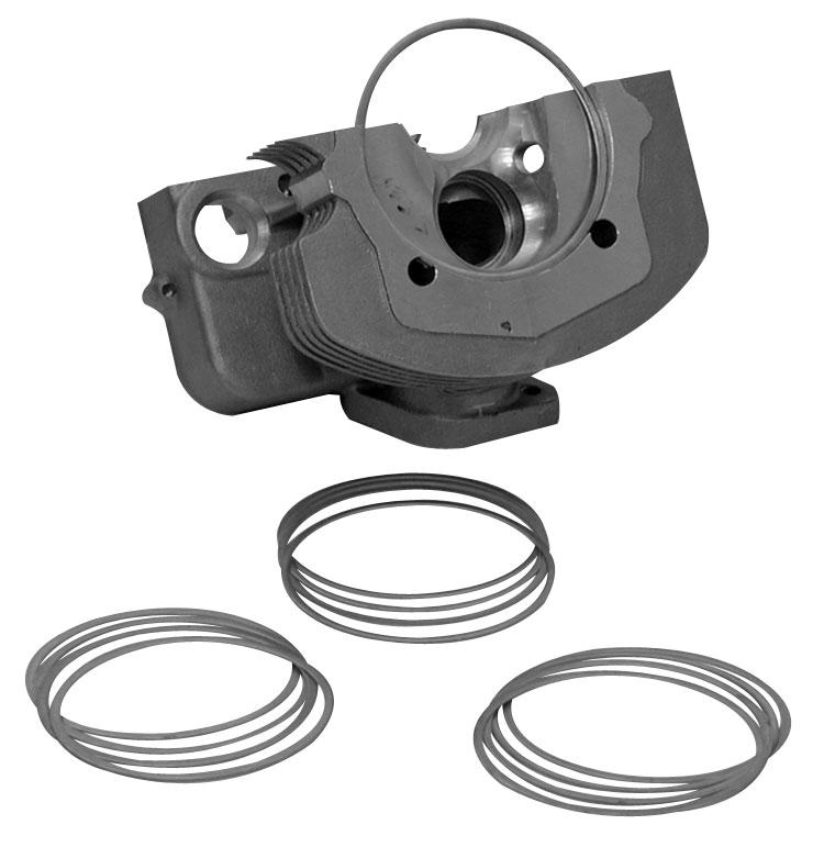 Podložky hlavy motoru/1.270mm - Typ 1/3 motory (94mm)
