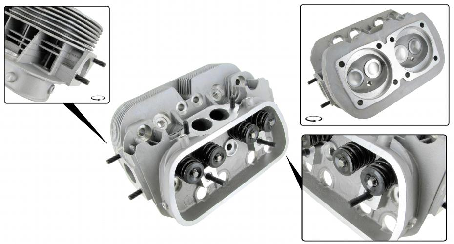 Hlava motoru GTV-2/dual S/S - Typ 1/3/CT/CZ motory (40x35.5x92mm)