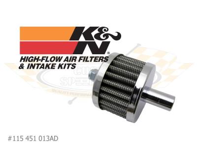 Filtr odvětrání motoru OE/chrom - Typ 1/2/3/14/25/181 (» 2003)