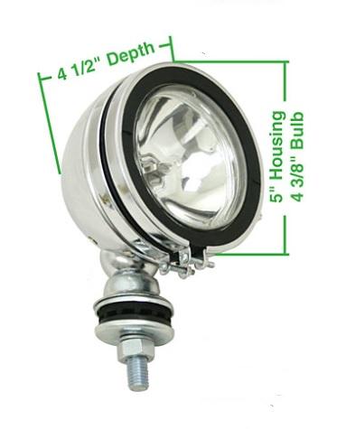 Světlo přídavné 127mm/chrom - Typ (univerzál)