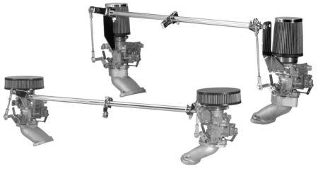 Táhla ovládací Alu/chrom - Typ 3 motor (ICT 34)