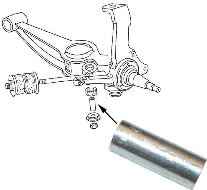 Pouzdro čepu náboje kola/přední L/P - Typ 25 (1979 » 92)
