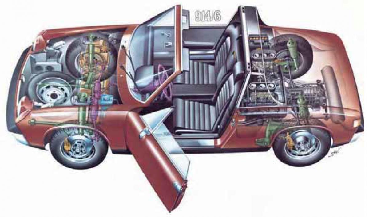 Výfuk singl - Porsche 914/6 (1969 » 73)