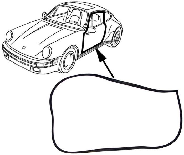 Těsnění dveří L/P - Porsche 911/912/964 (1965 » 93)