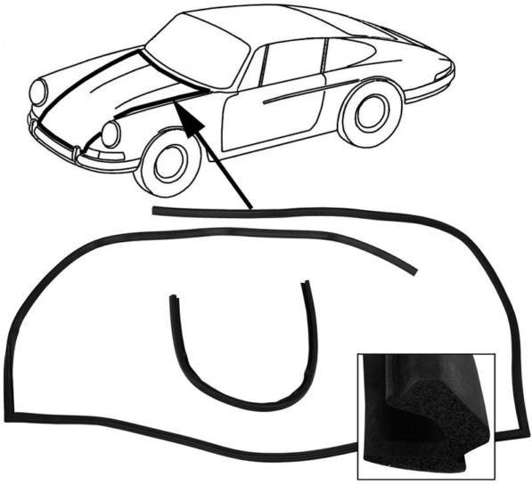 Těsnění přední kapoty - Porsche 911 (1964 » 73)