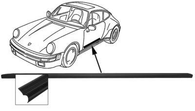 Lišta prahu dveří/P - Porsche 911/964/993 (1977 » 97)