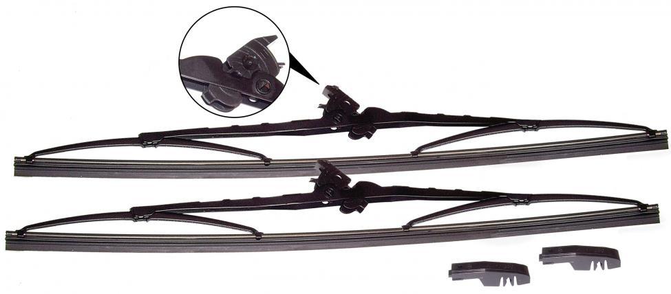 Lišty stírací 450mm/černé - Typ 25 (1979 » 92)